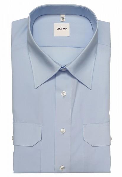 Langarm-Hemd OLYMP FEUERWEHR comfort fit, hellblau