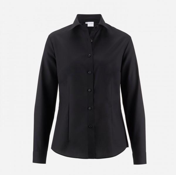 Bluse OLYMP Luxor comfort fit, Langarm, schwarz