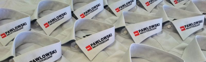 """Hemden besticken lassen, Beispiel """"Pawlowski Industriebedarf"""""""