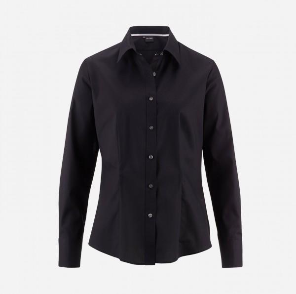 Bluse OLYMP Level Five body fit, Langarm, schwarz