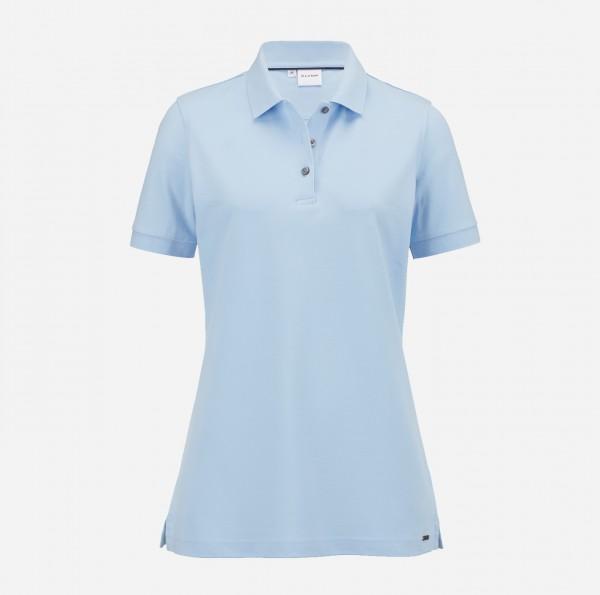 OLYMP Damen-Poloshirt Piqué, skyblue