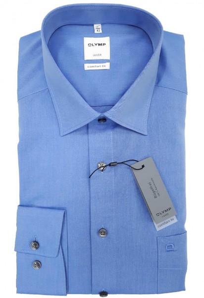 Langarm-Hemd OLYMP Luxor comfort fit, mittelblau