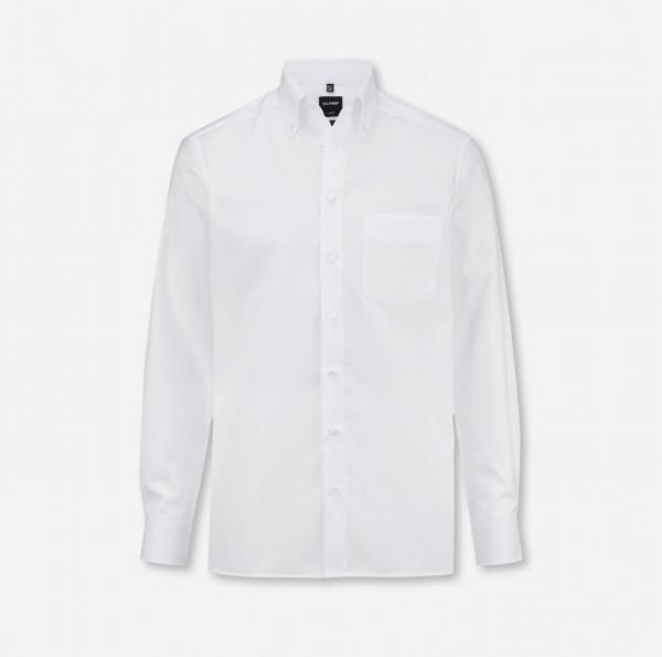 Hemd OLYMP Luxor modern fit, Button-Down, Langarm, weiß