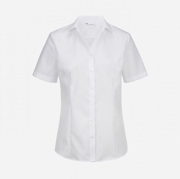 Bluse OLYMP Luxor comfort fit, Kurzarm, weiß