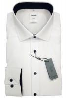 Langarm-Hemd OLYMP Luxor comfort fit, weiß/marine