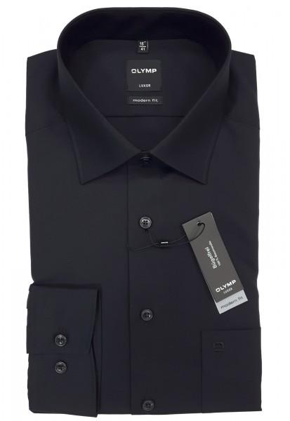 Langarm-Hemd OLYMP Luxor modern fit, schwarz