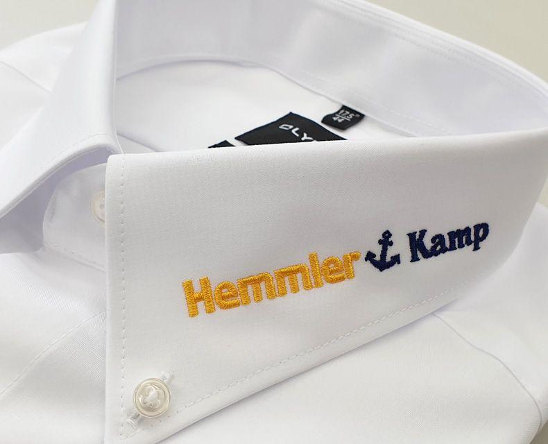 olymp-hemd mit bestickung