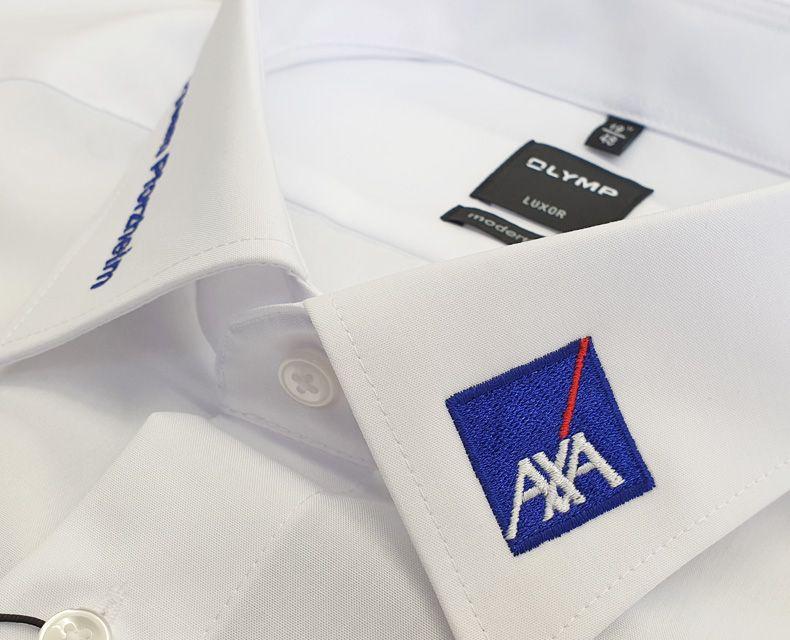 "Olymp-Hemd mit Bestickung ""AXA"""