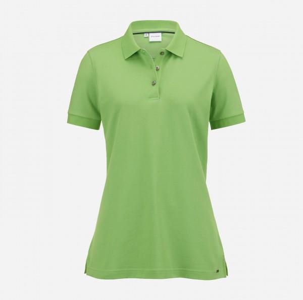 OLYMP Damen-Poloshirt Piqué, limegreen