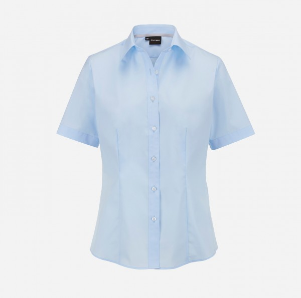 Bluse OLYMP Level Five body fit, Kurzarm, skyblue