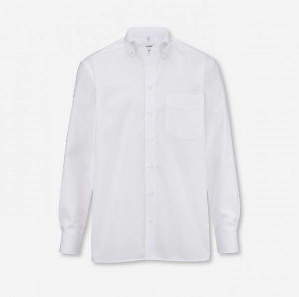 Hemd OLYMP Luxor comfort fit, Button-Down, Langarm, weiß